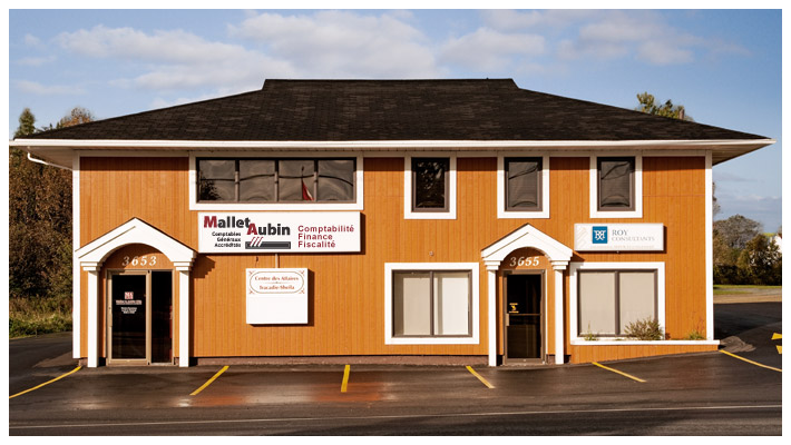 Office of  Mallet Aubin, Certified General Accountants located in Tracadie-Sheila, New-Brunswick